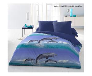 Parure de drap GIENAKH polyester, bleu - 240*300