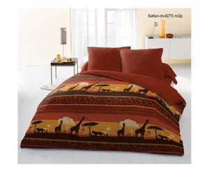 Parure de lit GOMEJZA polyester, marron et jaune - 220*240