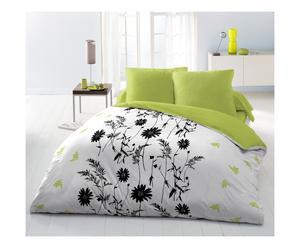 Parure de drap GRAFIAS polyester, vert et blanc - 240*300