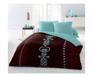 Parure de drap HAEDUS polyester, chocolat - 240*300