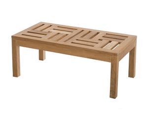 Table basse bois de teck massif, naturel - L100