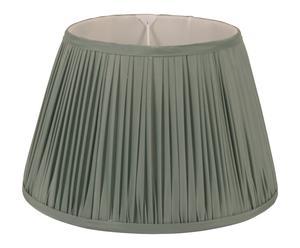 Abat-jour velours, vert et blanc - Ø30