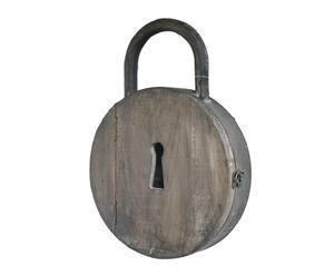Boîte à clefs bois, marron - H42