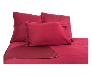 Drap plat JUN satin de coton, rouge - 270*290