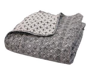 Boutis imprimé ROMAIN coton, gris anthracite - 180*230