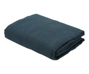 Drap plat MALFOY lin stone wash, bleu - 240*310