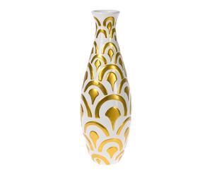 Vase, doré et blanc - H40