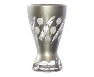 6 Verres à vodka TIMOTHEE cristal, argenté - H8