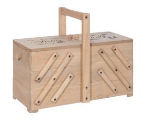 Boîte à couture bois de pin, naturel - L36