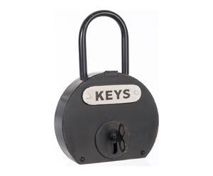 Armoire à clefs fer, noir - H43