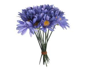Bouquet de fleurs artificielles tissu, violet clair - H14
