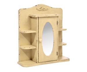 Armoire à bijoux bois de pin, jaune - H50