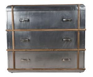 Commode bois, argenté et naturel - L105
