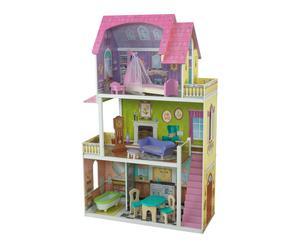 Maison de poupée bois, multicolore - H114