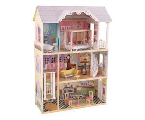 Maison de poupée bois, pastel - H118