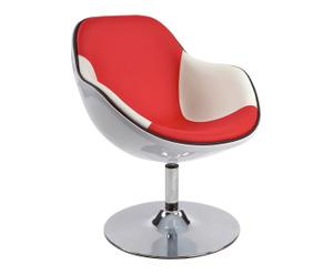 Chaise JOHN chrome, rouge - L70