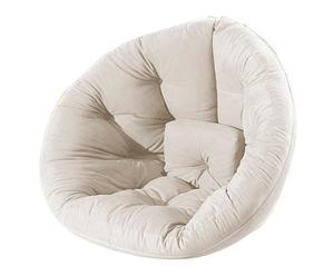 Chaise dépliable NIDO FUTON coton, blanc - L90