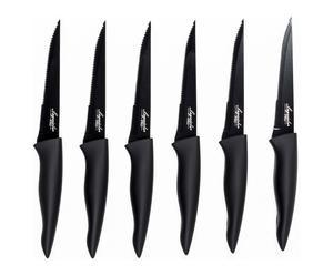 6 Couteaux à steack, inox - L23