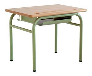 Bureau enfant, vert tilleul et naturel - L70