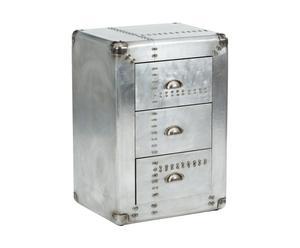 Commode aluminium, argenté - H70