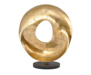 Sculpture décorative aluminium, doré - H64