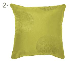 2 Coussins ELECTRA polyester, vert - 60*60