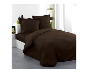 Housse de couette UNIO coton 57 fils/cm², chocolat - 220*240