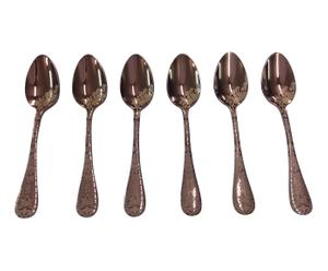6 Cuillères à moka CASABLANCA, bronze et titane - bronze
