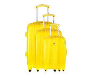 3 Valises rigides ALBANY polypropylène, jaune - 40/64/79L