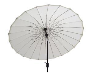 Parasol aluminium, blanc cassé - Ø2,6M