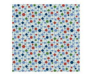 Toile cirée toile enduite, blanc et bleu - 140*220