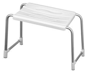 Tabouret de bain LOU aluminium, blanc - L51