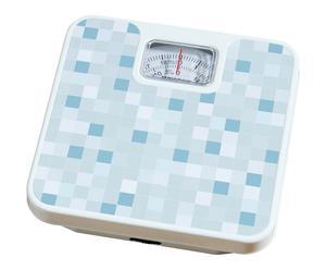 Pèse personne MOSAIC métal, bleu - 26*26