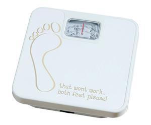 Pèse personne FOOT métal, blanc - 26*26