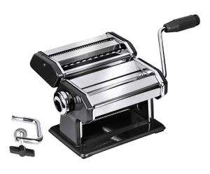 Machine à pâtes chrome et acier, noir - L21