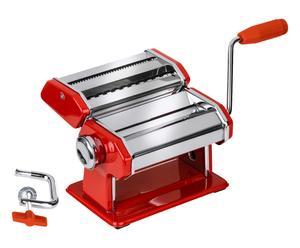 Machine à pâtes chrome et acier, rouge - L21