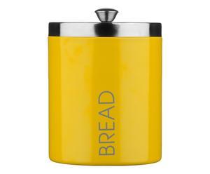 Boîte à pain MORNING émail et acier inoxydable, jaune - H30