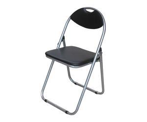 Chaise pliante, noir - L44