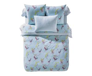 Housse de couette BIRDY pur coton, bleu - 200*200