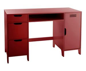 Bureau enfant ASPER bois, rouge - L120