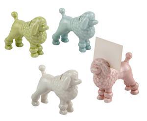 4 Porte-noms céramique, multicolore - L8