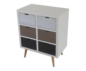 Commode DESIGN bois de pin, blanc - H85