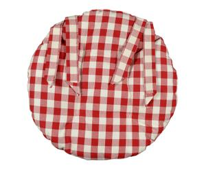 Galette de chaise coton, rouge et blanc - Ø40