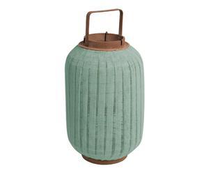 Lanterne, vert menthe et marron - H41