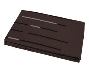 Housse de couette ACHILLE percale de coton, chocolat - 200*200