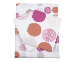 Parure de drap SIXTIES percale de coton, multicolore - 240*300