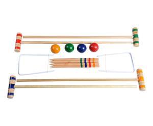 Jeu de croquet pour enfants CANVAS bois, multicolore - L75