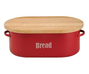 Boîte à pain VINTAGE métal, rouge - 42*26