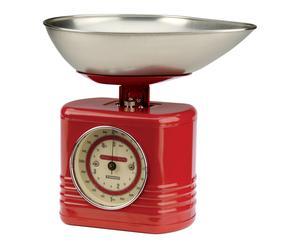 Balance de cuisine mécanique VINTAGE métal, rouge - H28
