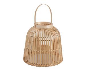 Lanterne fibre de bambou, naturel - H27